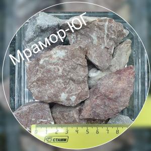 Розовая мраморная крошка фракция 20-40 мм