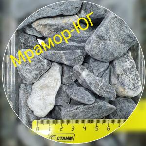 Чёрный мрамор галтованный фракция 20-40 мм