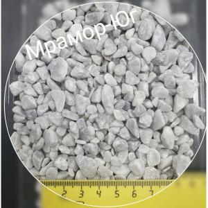 Мрамор галтованный серо-голубой фракция 5-10 мм