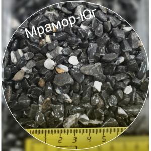 Мрамор галтованный чёрный фракция 5-10 мм