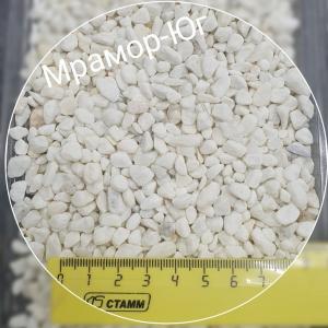 Мрамор галтованный фракция 3-8 мм