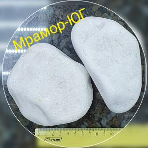 Мрамор галтованный фракция 90-120 мм