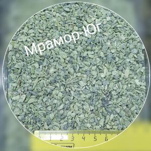 Змеевик зелёный фракция 3-5 мм